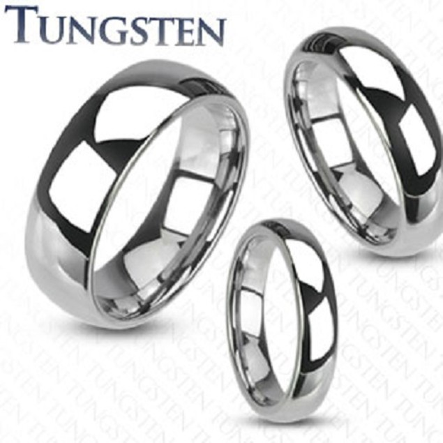 Spikes Comfort Fit Tungsten Ring