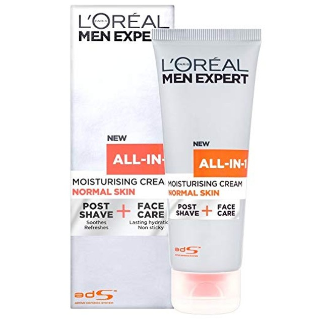 2-Pack LOreal Men Expert All in 1 Normal Skin, Post Shave & Face Care 75 ml