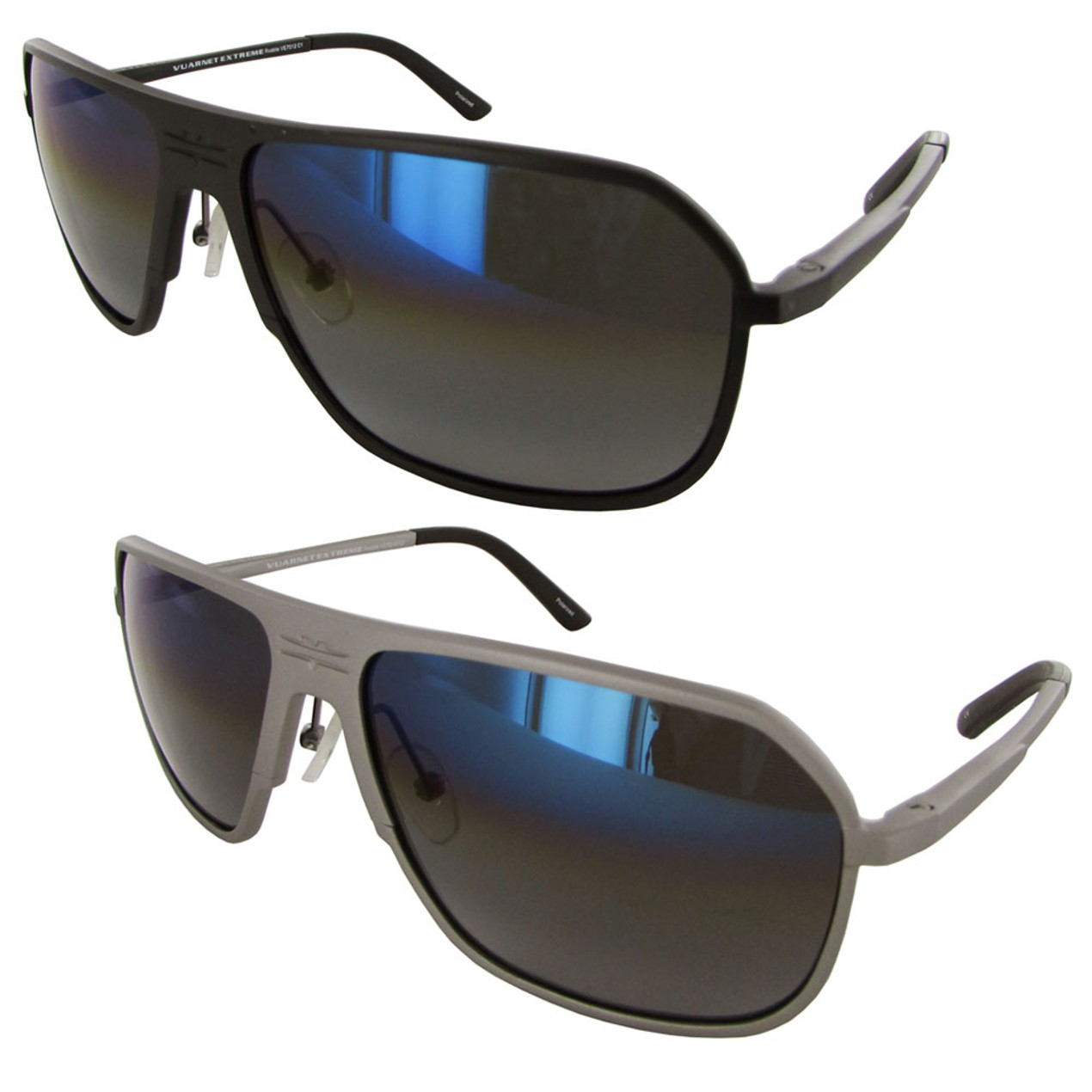 07970742db Vuarnet Extreme Unisex VE 7012 Square Polarized Aviator Sunglasses ...