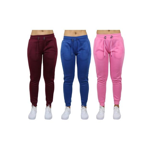 3-Pack Women's Classic Fleece Jogger Sweatpants (Sizes, S-3XL)