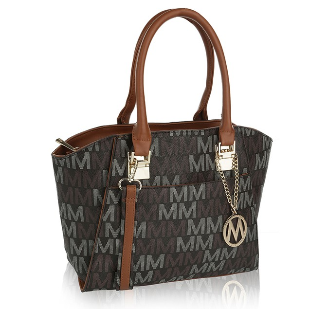 MKF Collection Dana M Signature Set Tote And Wristlet by Mia K