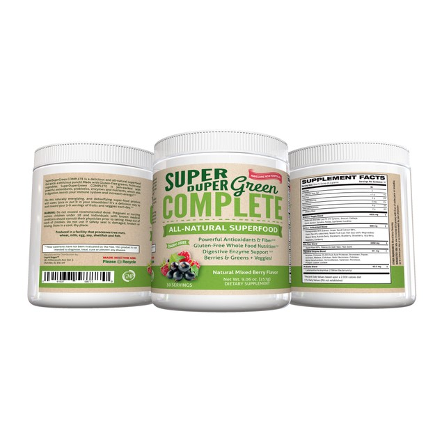 Greens Powder-Superfood Powder, 30 Servings,Berry,Greens Supplement