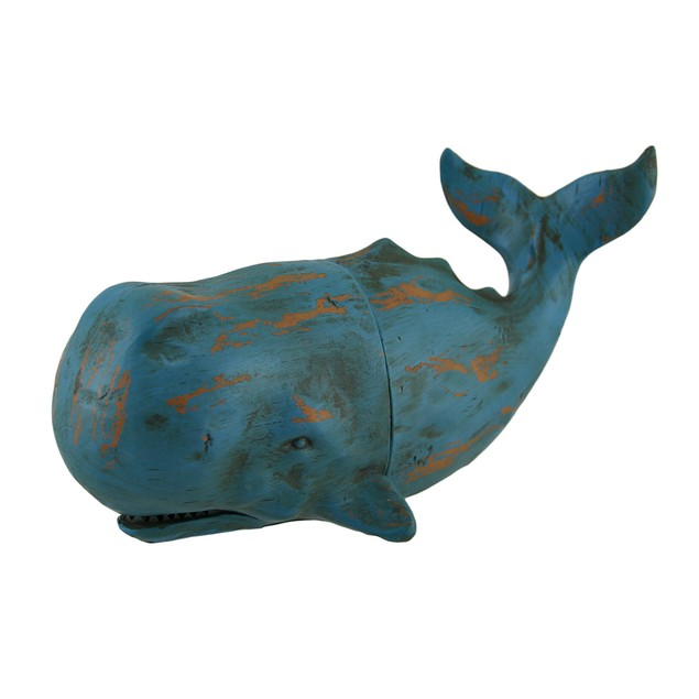 Verdigris Finish Whale Top And Tail Bookends Set Decorative Bookends