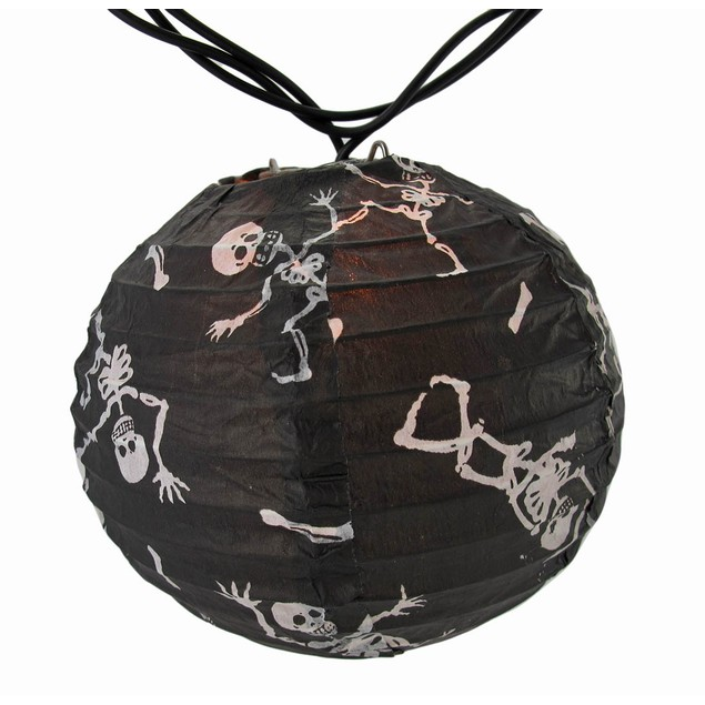 Bethany Lowe Skeleton Black Paper Lantern Party Halloween Lighting