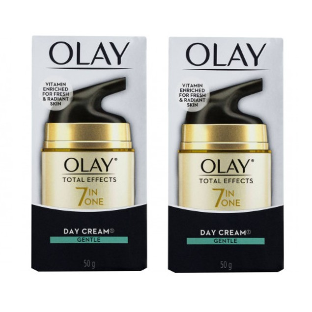 Olay Total Effects 7 in One Day Cream, Gentle, 50g (1.7 oz) (Pack of 2)
