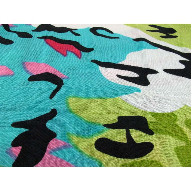 Splashes Of Spring Colors Acrylic Leopard Print Womens Fashion Scarves