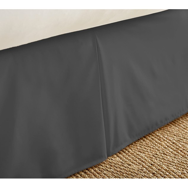 "Merit Linens Premium Pleated 14"" Drop Bed Skirt Dust Ruffle"