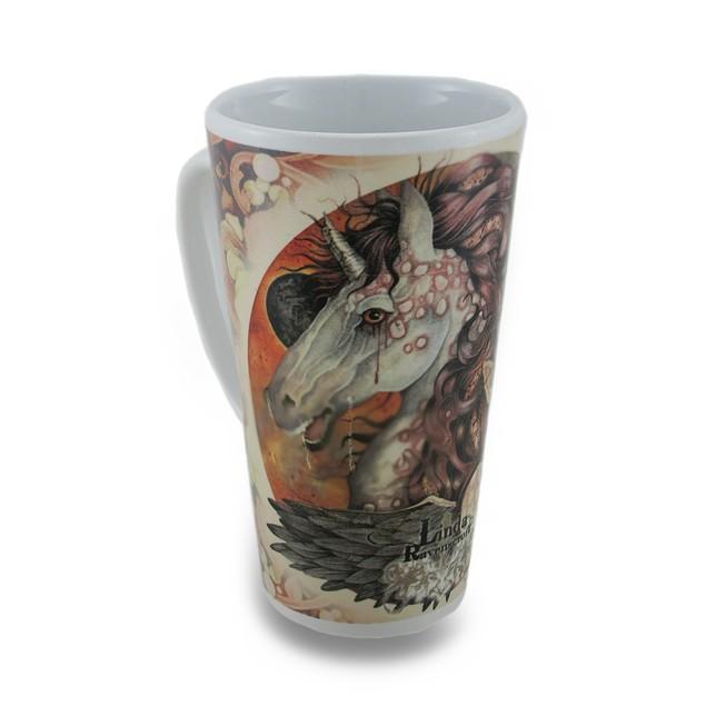 Linda Ravenscroft Grey Lady Design Tall Ceramic Novelty Coffee Mugs