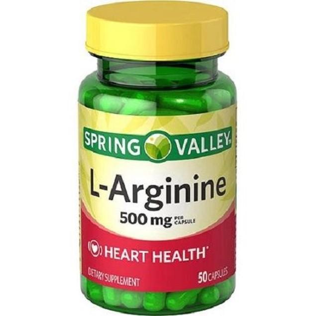 Spring Valley L-Arginine Dietary Supplement 500 mg Capsules