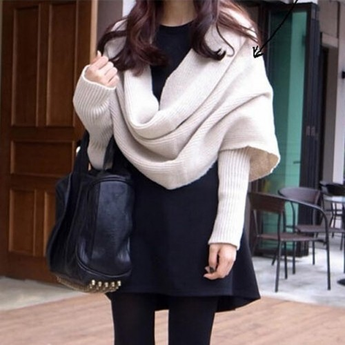 Multiway Unisex Scarf with Sleeves - 4 Colors
