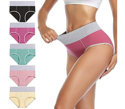 6-Pack Women's Cotton Mid-high Waisted Panties (M-5X) Was: $69.99 Now: $22.99.