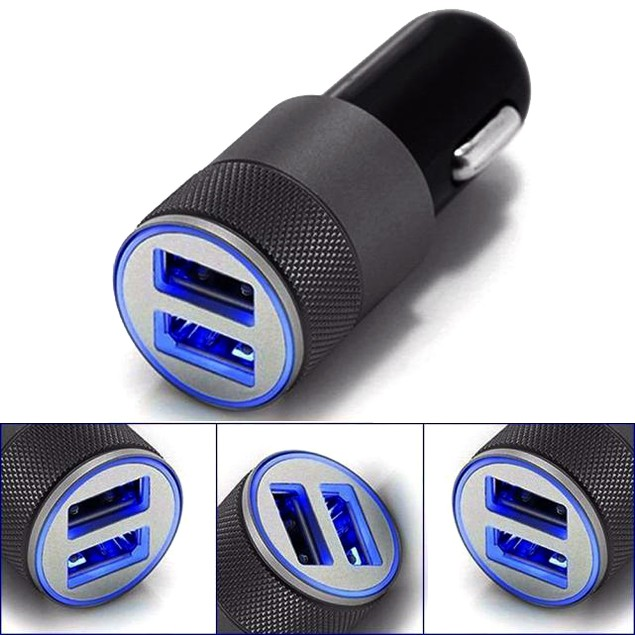 Dual USB Twin Port 12V Car Charger Adapter