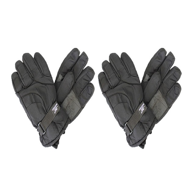 2-Pairs Men's Waterproof Thermal-Insulated Winter Gloves