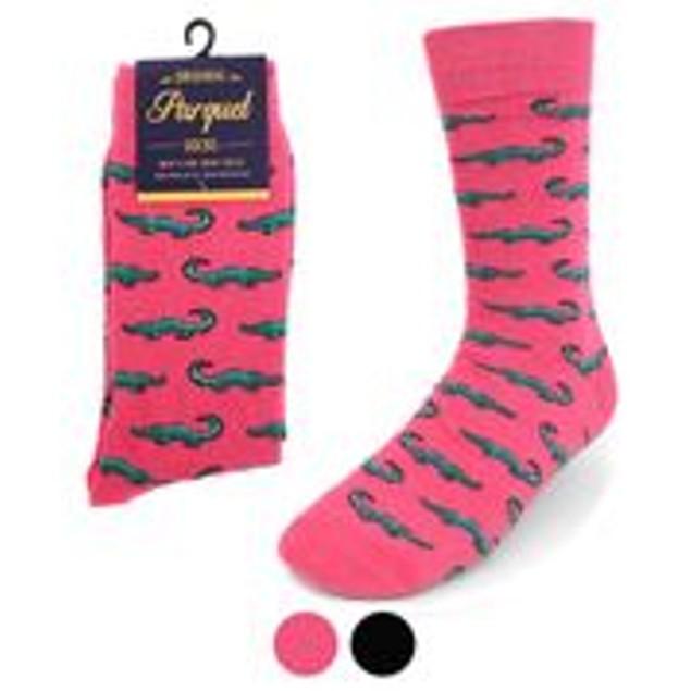 4 Pairs Men's Alligator Novelty Socks