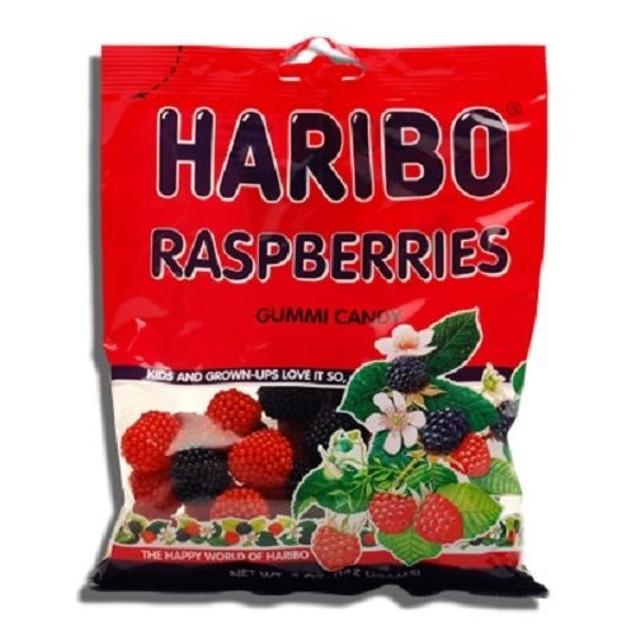 Haribo Raspberries Gummi Candy 5 oz Bag