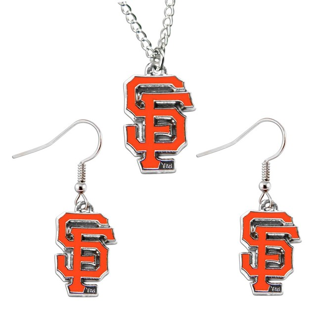 NFL Sports Team Necklace And Dangle Earring Set