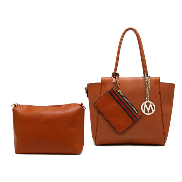 MKF Collection Lenie Tote Bag with Pouch & Wristlet by Mia K.