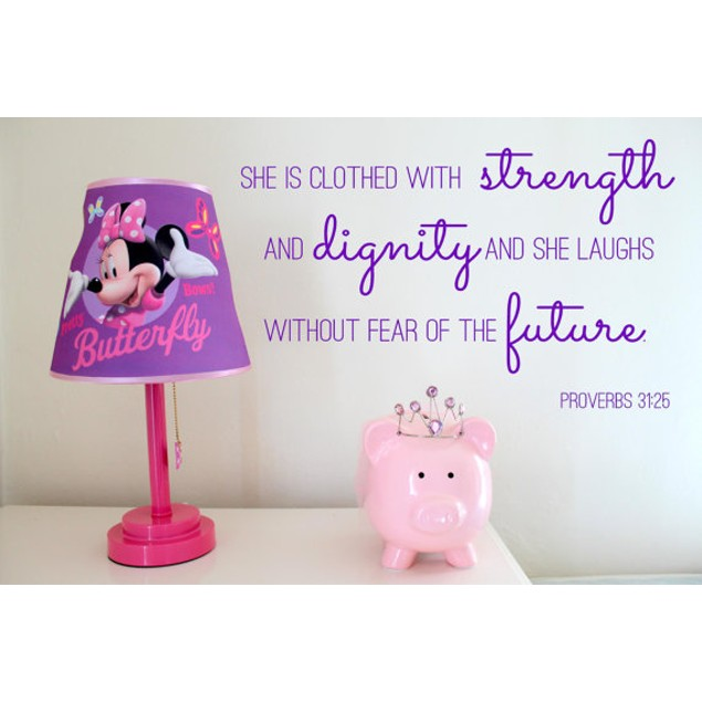 Dignity Wall: Clothed With Strength & Dignity Wall Decal