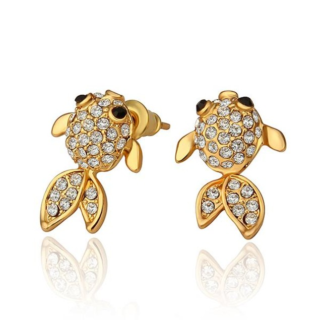 Gold Plated Gold Plated Fish Stud Earrings