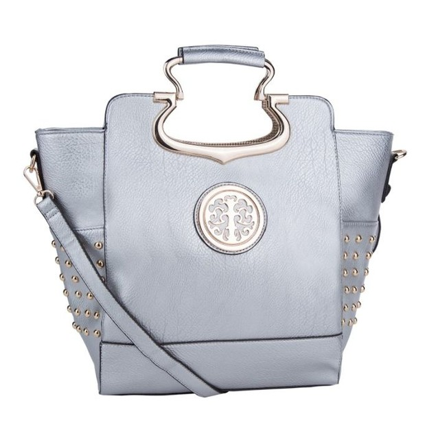 MKF Collection Structured Studded Satchel by Mia K Farrow