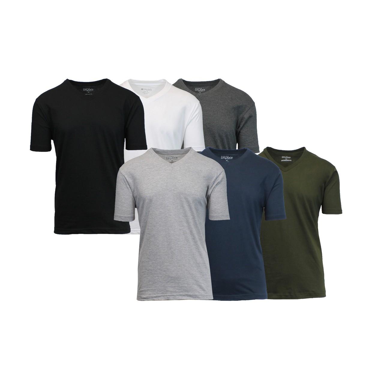Men's 6-Pack Short Sleeve Crew Neck Tee