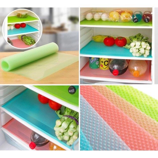4-Pack Refrigerator Mats  – Assorted Colors