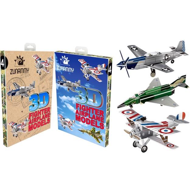 Zunammy 3D Pop Up Model 4 Fighter Jets