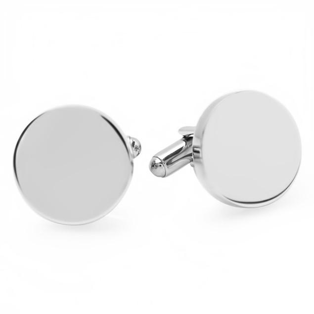 Engraveable Men's Stainless Steel Cufflinks - 4 Styles
