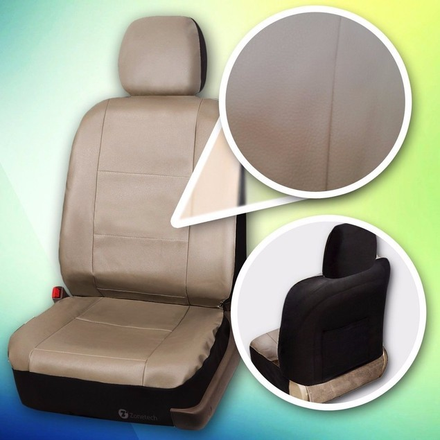 Zone Tech Luxury Universal Fit Interior Decor PU Leather Car Seat Cover