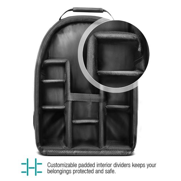Vivitar Camera Backpack Bag for DSLR Camera, Lens and Accessories