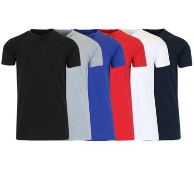 2-Pack Men's Slim Fitting Short Sleeve Henley Slub Tee (Sizes, S-2XL) Was: $40 Now: $19.99.