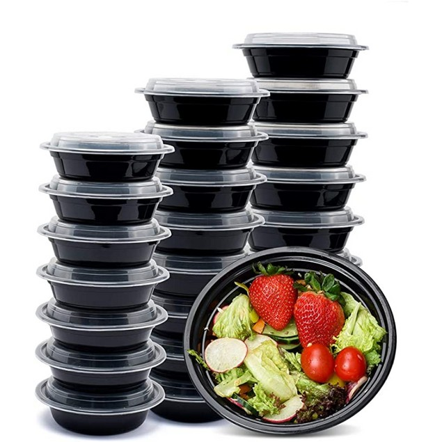 15 Pack: Microwaveable Meal Prep Food Containers W/ Lids