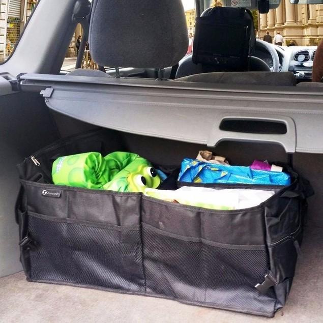 Zone Tech Trunk X-Large Car Organizer Storage Collapsible Cargo Folding Box