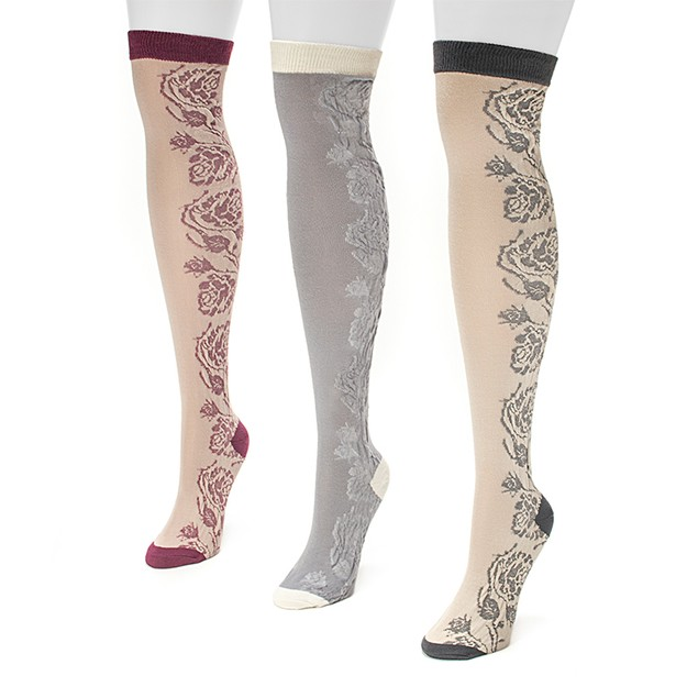 3 Pairs: Women's Muk Luk Cozy Over the Knee Socks