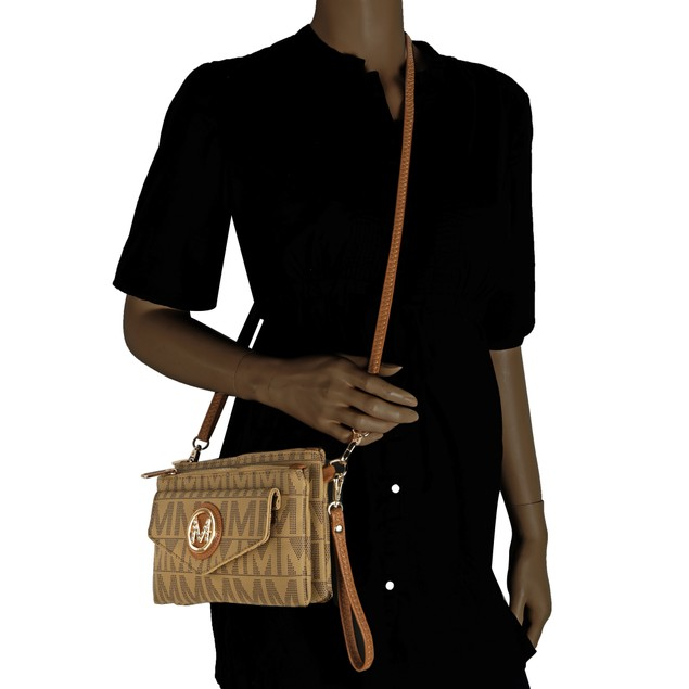 MKF Collection Manny M Signature Crossbody Wristlet by Mia K. Farrow