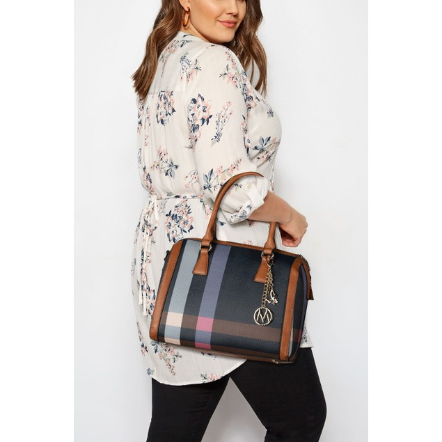 Mia K. Collection Autumn Satchel with Matching Wallet