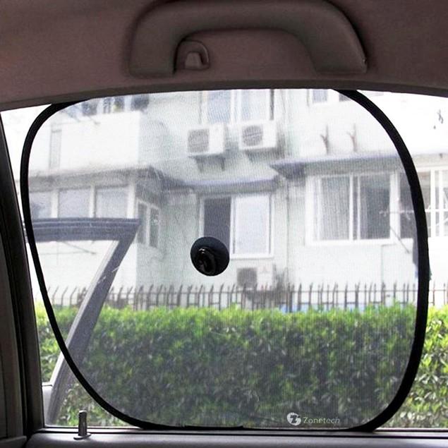 Zone Tech 2x Side Window Sunshade Sun Shade Car Mesh Ray Protector Shield