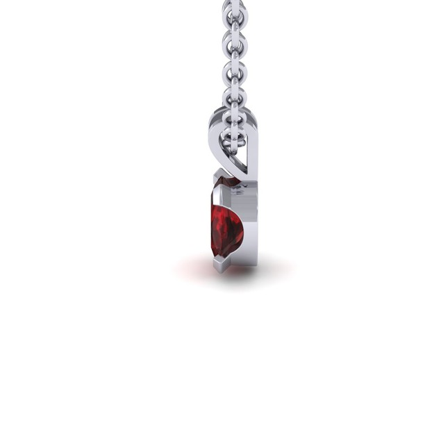 1.65cttw Oval-Cut Garnet Necklace & Earring Set In Sterling Silver