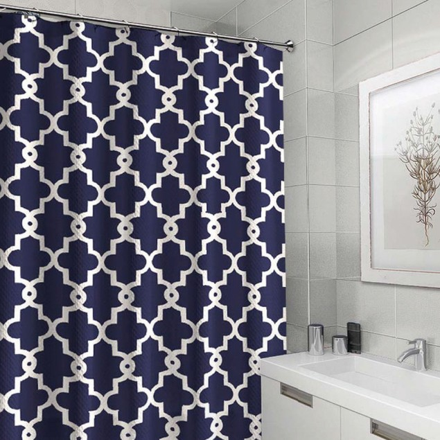 Ruthy's Textile Geometric Patterned Shower Curtain 70-Inch By 72-Inch