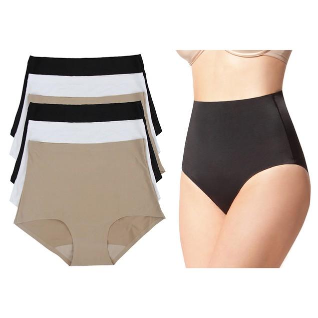 6-Pack Women's Laser-Cut Invisible Panties