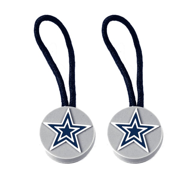 NFL Sports Team Zipper Pull Charm Tag Set for Luggage and Pet ID - 2 Pack