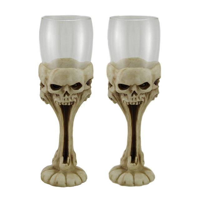 2 Piece Stretched Silent Screecher Glass Screaming Goblets