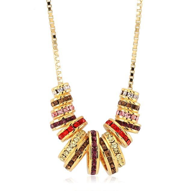 Gold Plated Preciosa Crystal Necklace