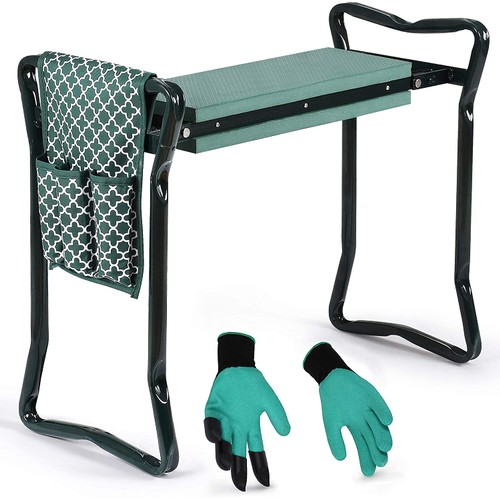 Garden Kneeler And Seat - Protects Your Knees, Clothes From Dirt & Grass Stains