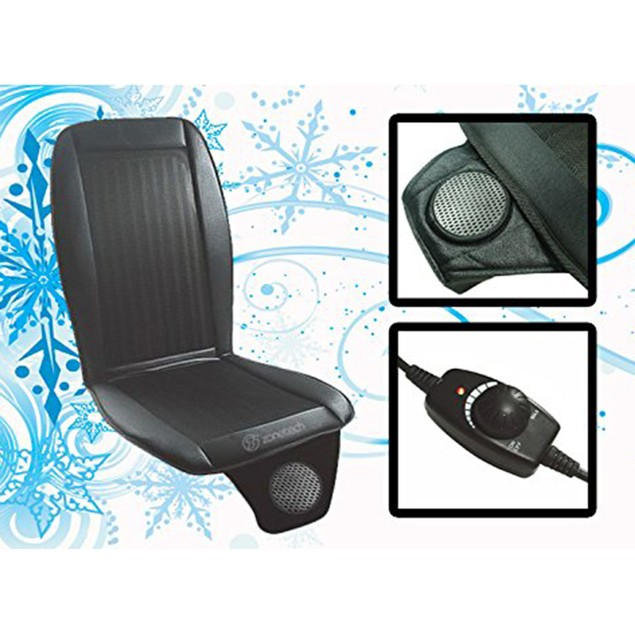 Zone Tech Car Seat Cooler Cushion Cover Summer Cooling Wind Seat Cover