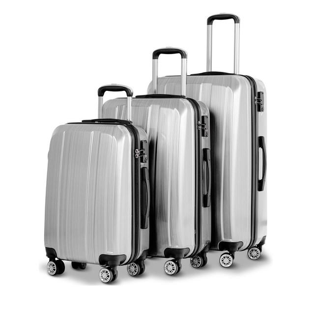 Costway 3PC 20'' 24'' 28'' Luggage Travel Trolley Suitcase Set w/TSA Locks