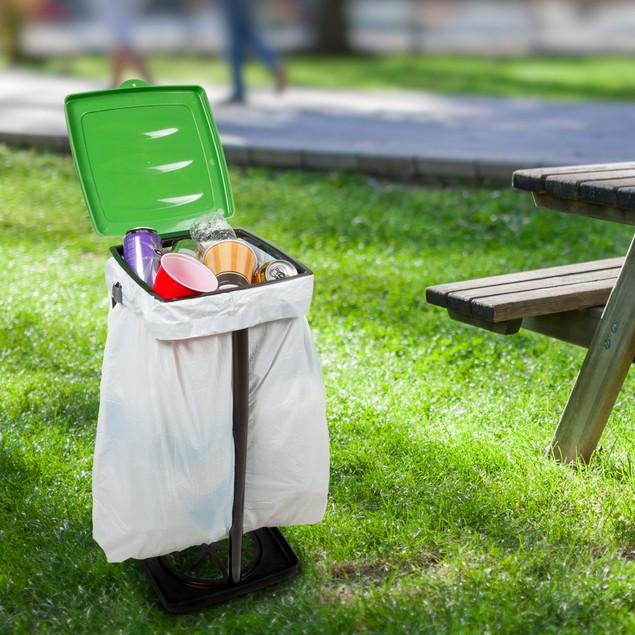 Wakeman Outdoors Portable Garbage Trash Bag Holder - 4 Colors