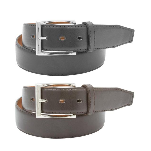 2-Pack Men's Black & Brown Leather Belts