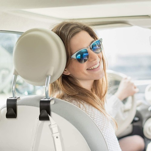 4-Piece Car Back Seat Headrest Hook Set