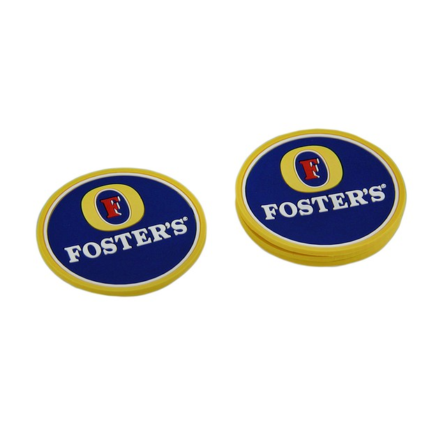 Set Of 4 Fosters Lager Rubber Coasters Mini Coasters